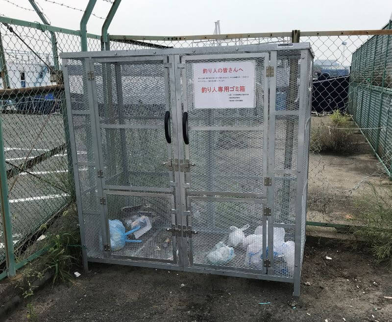 釣り人専用のゴミ箱
