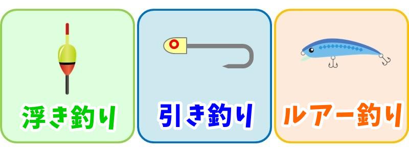 タチウオの釣り方3種類