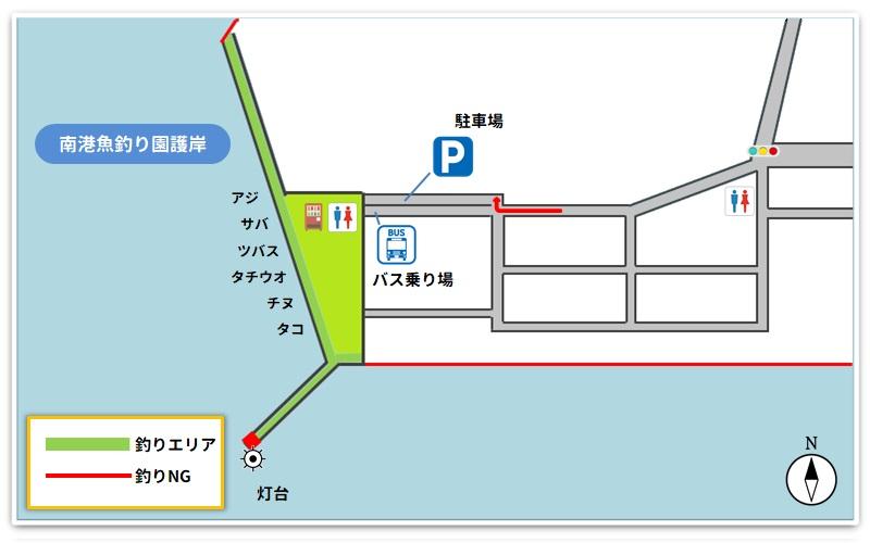 釣り場のマップイラスト